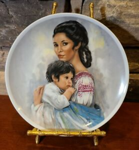 Royal-Bayreuth-Mothers-Day-1980-Young-Americans-Leo-Jansen-Collector-Plate