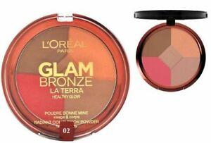L'OREAL 6g Glam Bronze Viso Abbronzante Pressato Cipria Compatta ILLUMINANTE FARD