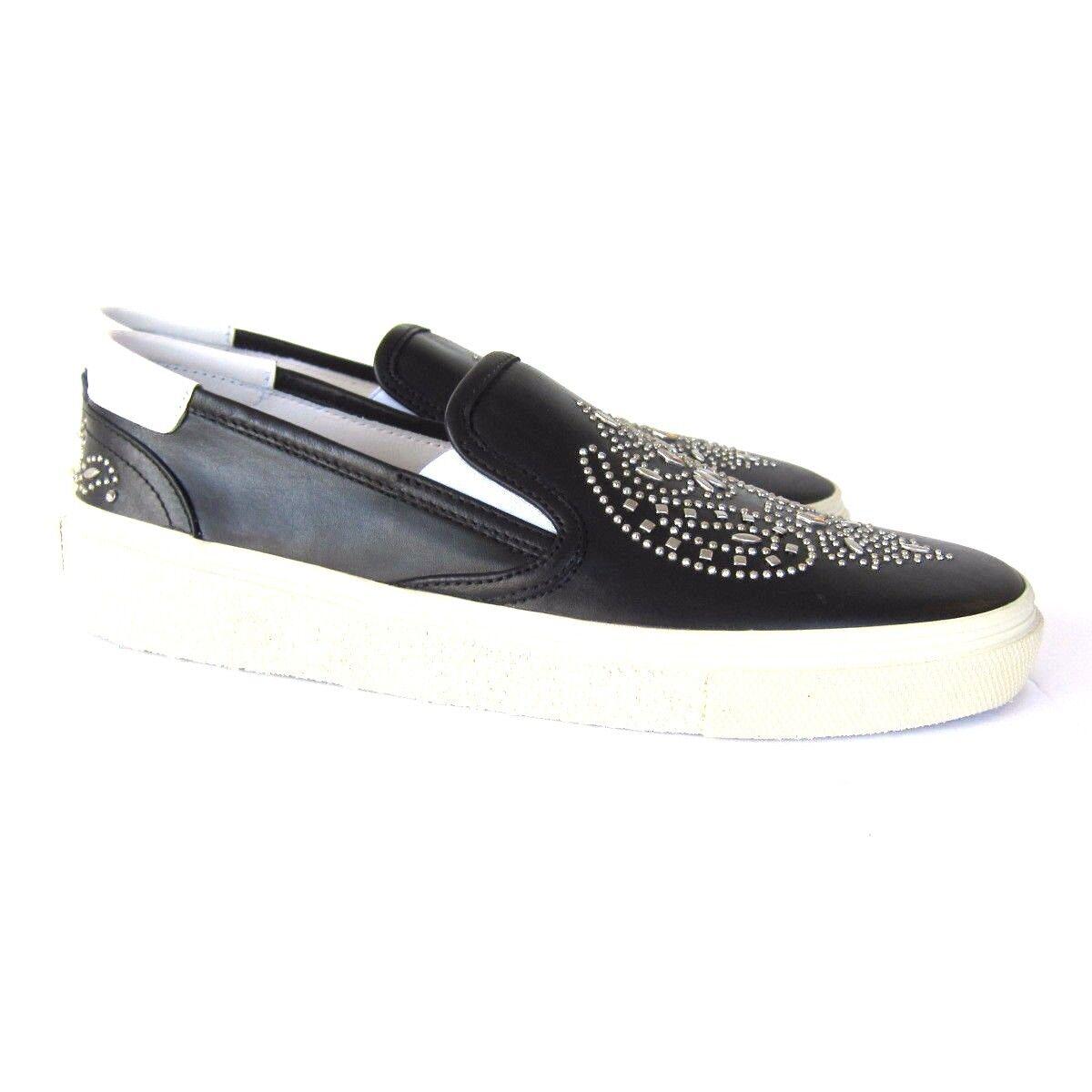 J-2667129 Nuevo Saint Laurent Negro Bandana Skate Plano Zapatillas Zapatos Talla