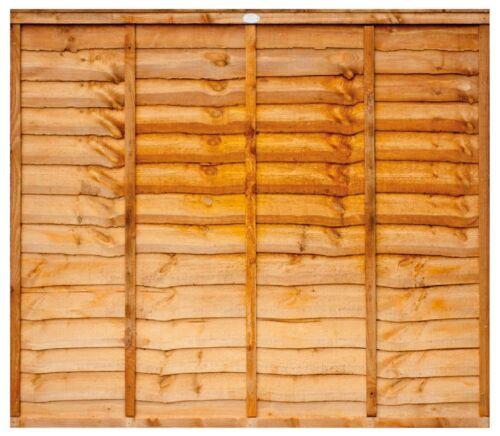 5ft x 6ft Budget Golden Orange Waney Lap Garden Fencing NATIONWIDE DELIVERY