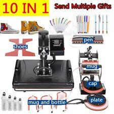 10 In 1 Combo Heat Press Machine Thermal Sublimation Transfer Printer Mugtshirt