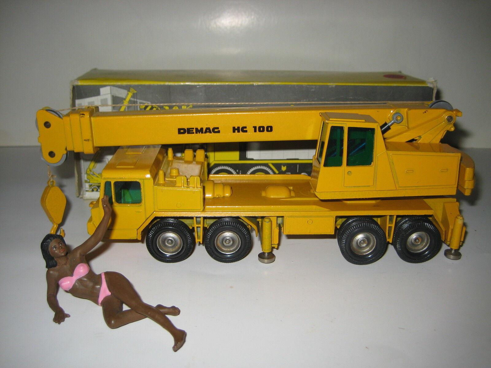 DEMAG HC 100 Autokran Autokran Autokran métal jantes #123.1 NZG 1:50 neuf dans sa boîte | Belle Couleur  bbe52c