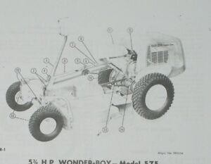 Details about Simplicity Wonder-Boy 575 450 Riding Lawn Mower & Attachments  Owner Parts Manual