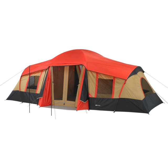 Ozark Trail 10 PERSON 3 ROOM Vacation Cabin Large Family Camping TENT Canopy