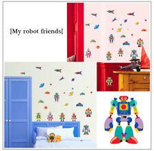 ROBOT kids BAGNO CAMERA DA LETTO ADESIVI da Parete, Wall Art - 7023