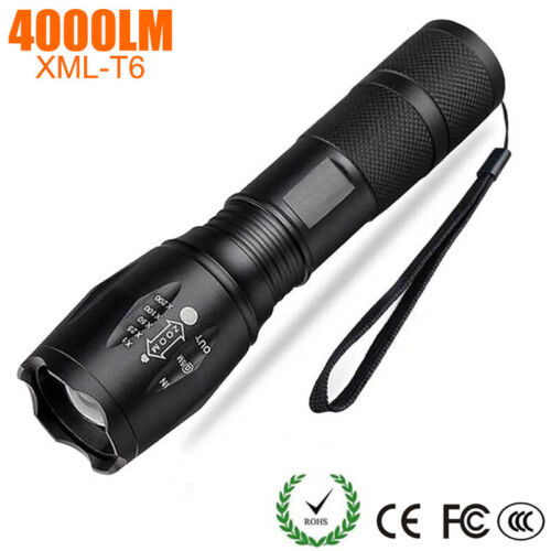 50000LM T6 Tactical LED Flashlight Zoom able Torch Lantern Camping Lamp 5 Modes