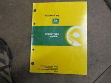 John Deere 60 Air Drill Seed Kart Owners Amp Maintenance Manual