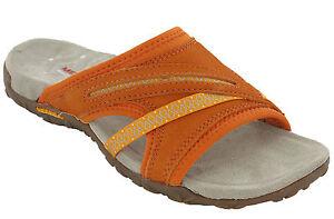 Merrell-Sandals-Toe-Post-Terran-Slide-Leather-Elastic-Halter-Strap-Summer-Womens