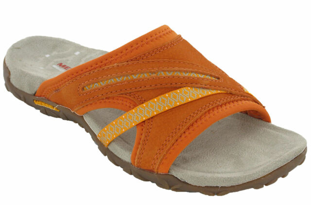 ef0662dce Merrell Sandals Toe Post Terran Slide Leather Elastic Halter Strap Summer  Womens