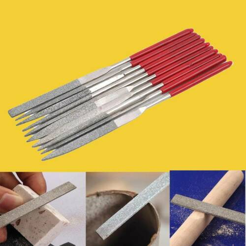 10Pc Different Specifications Wood File Set Round Rasp File for Metal Projects L