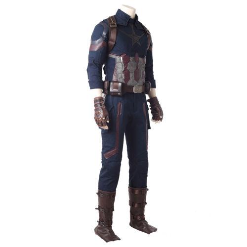 Captain America Costume Avengers Infinity War Cosplay Shoulder Strap Belt Adult