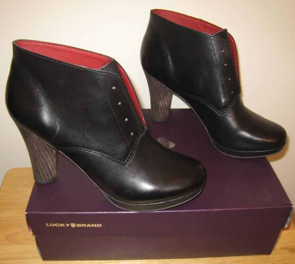 Nouveau Lucky Brand Femme Bottes Chaussures Talons 9 M New In Box Noir