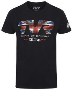 TVR-T-Shirt-Flag-Spirit-of-Driving-Mens-Official-Merchandise-British-Car