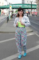 Hose pants trousers blumen Sommerhose high waist 90er True VINTAGE 90´s flower