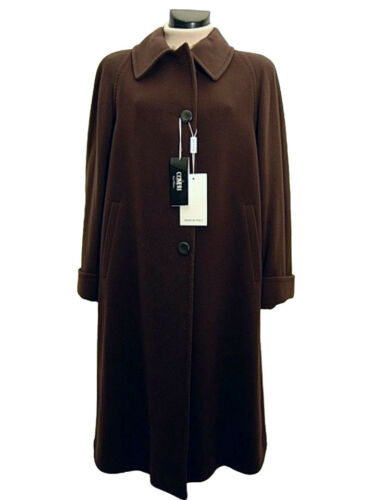 Cashmere 50 New Italy Donna Lana Wool Tg 52 Coat 46 Marrone Coveri Cappotto H8TI4qwWgq