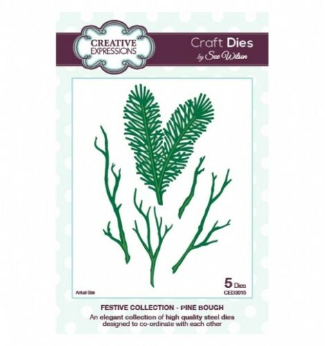Festive Collection Craft Dies PINE BOUGH 5 Dies by Sue Wilson CED3015