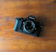 Mr. Zhou Black Leather Half Case for Nikon F3 F3HP SLR Camera Fits Nikon F2 too!