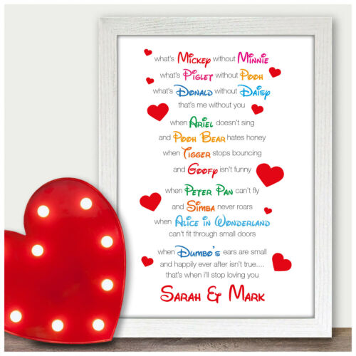 PERSONALISED 1st Wedding Anniversary Engagement Couples Gifts for Her Him Wife