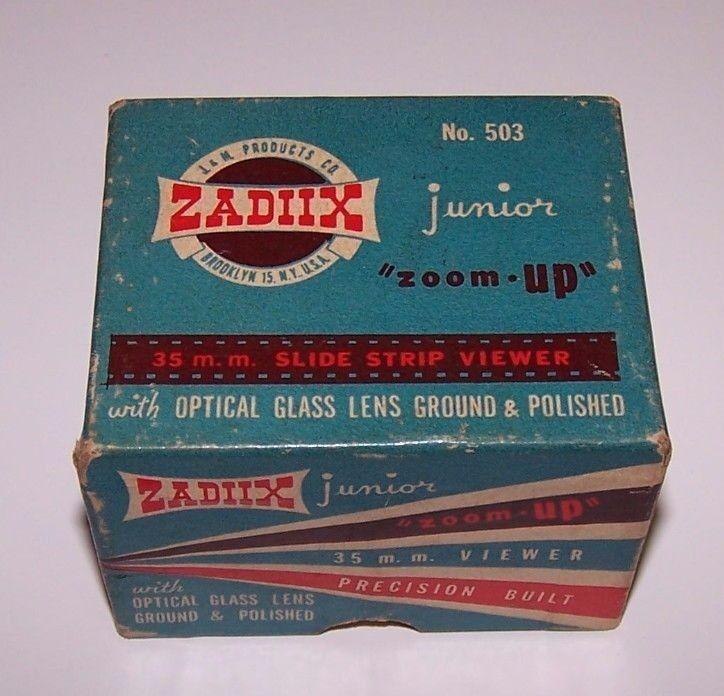 Zadiix Junior Zoom-Up 35MM Slide Strip Viewer w Original Box no 503