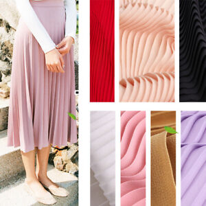 1meter-Pleated-Chiffon-Fabric-Dressmaking-Sewing-Crafts-150cm-Wide-100GSM