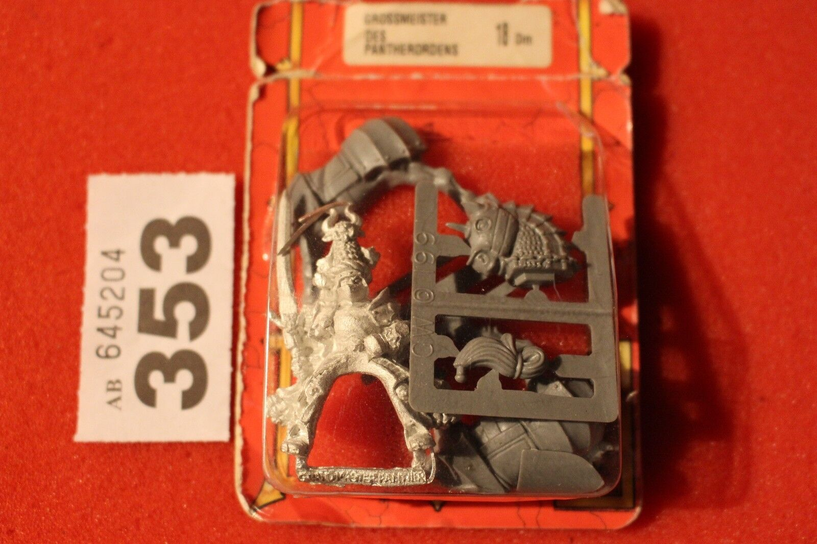 Warhammer The Empire Grand Master of Knights Panther Metal Figure Fantasy New GW