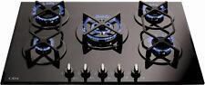 CDA HVG720BL 70cm di marca a 5 BRUCIATORI PER PIANO COTTURA IN VETRO IN NERO