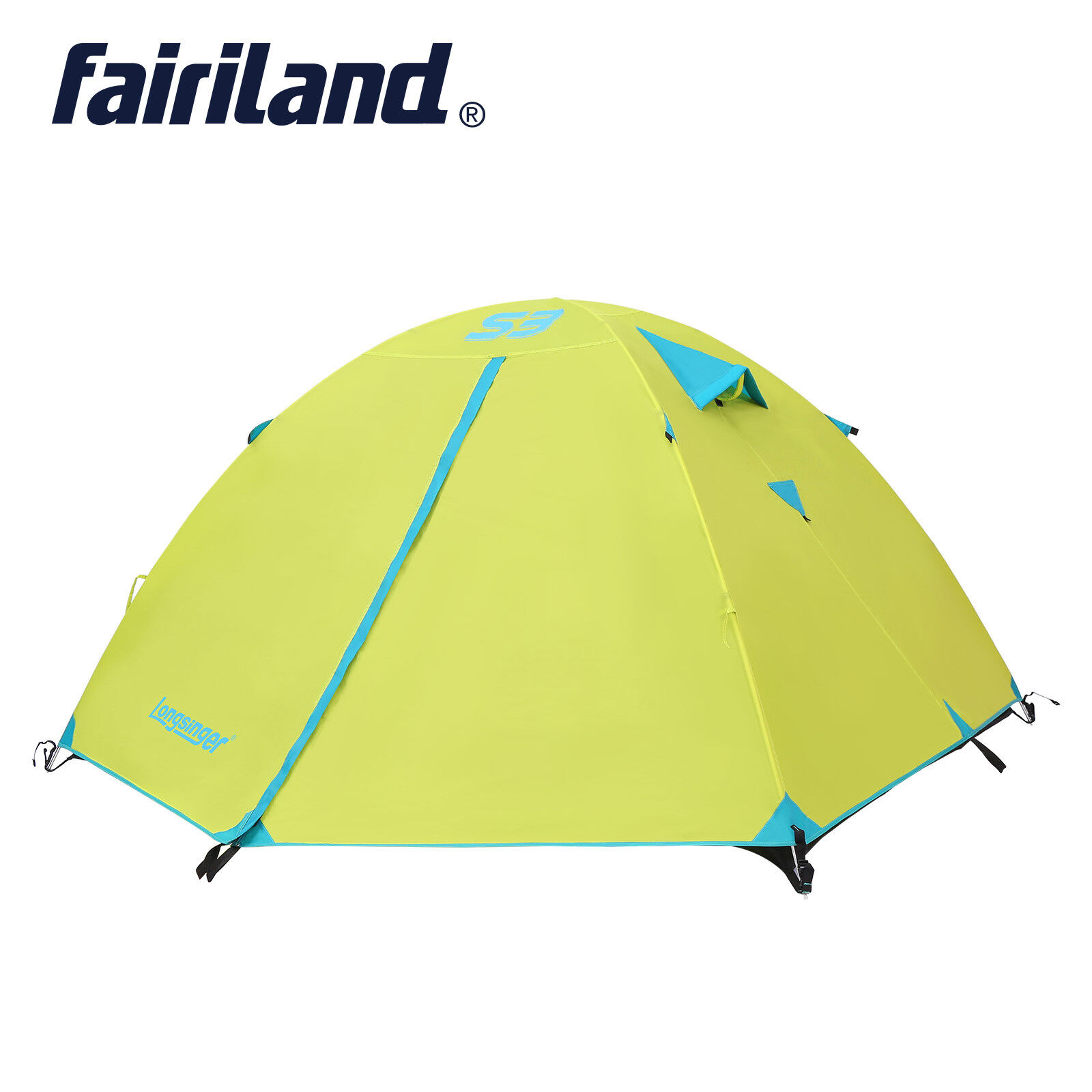 3 season 3 person double layer hiking traveling camping tent 10.17.14.2ft