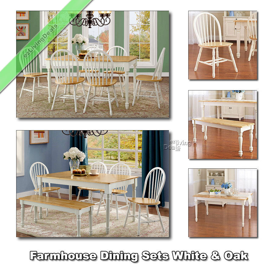 Kitchen Chairs Set Of 4 Country Farmhouse Dining Room: Farmhouse Dining Room Set, Tables Chairs Benches Wood