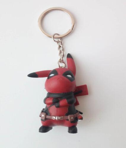 Deadpool Pikachu Keychain Deadpool Pikachu Figure Keychain