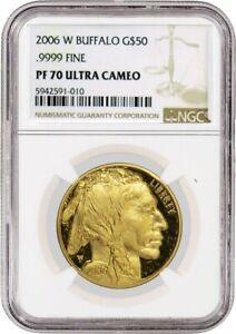 2006 W $50 American Gold Buffalo 1 oz .9999 NGC PF70 Ultra Cameo Coin