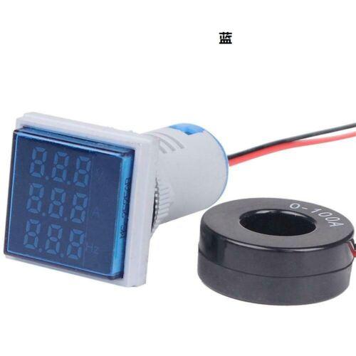 New LED Digital Display Voltmeter Ammeter Voltage Current Frequency Tester Meter