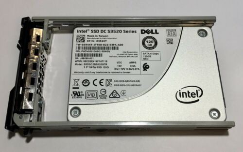 "Intel 0394XT 120GB SSD 2.5/"" SATA Model 394XT SSDSC2BB120G7R DP//N"