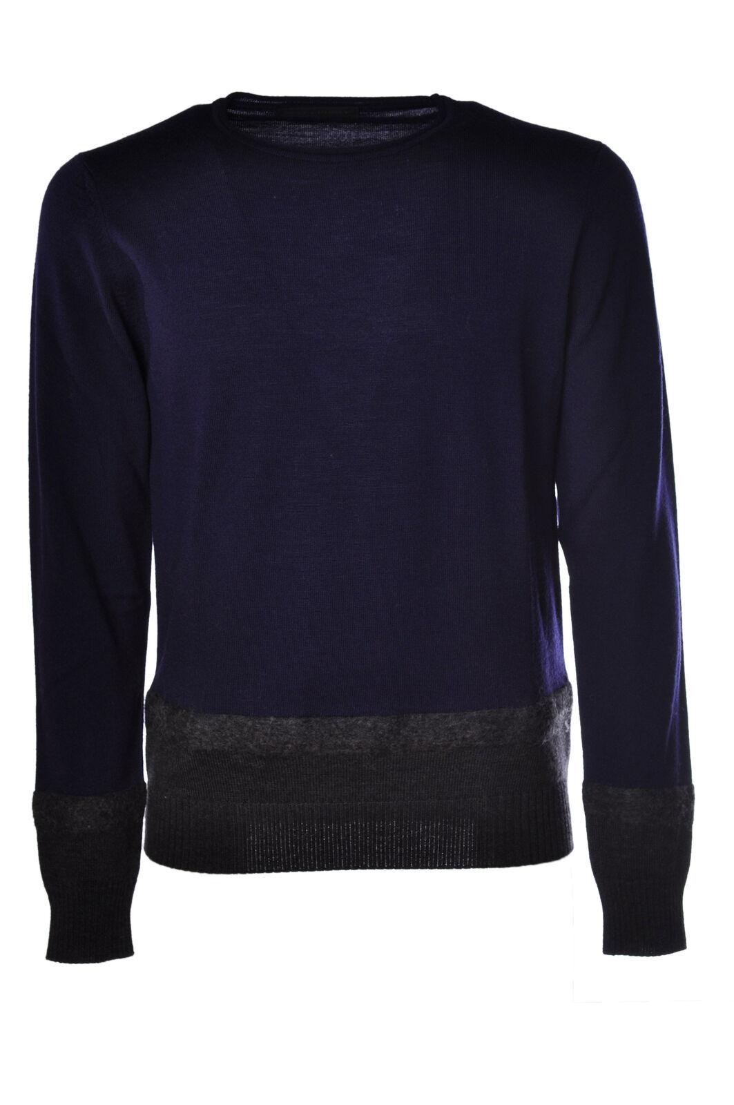 Daniele Alessandrini - Knitwear-Sweaters - Man - 908318C181107 Bleu - 908318C181107 - a90ee6