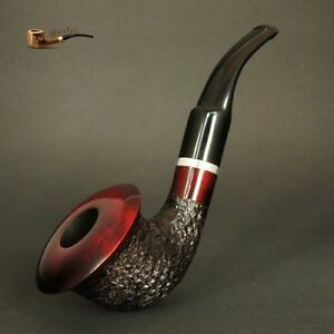HAND-MADE-WOODEN-TOBACCO-SMOKING-PIPE-no-66-Calabash-Rustic-Red-Pear-Filter