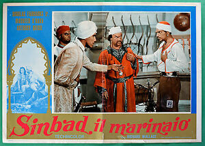 T30 Fotobusta Sinbad Die Seefahrer Maureen O'Hara, Anthony Quinn Fairbanks 1