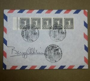 Original buzz aldrin autogramm autograph 1970 envelope Apollo Monument