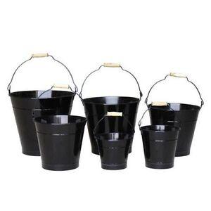 13cm Black Zinc Bucket/Metal/Tin/Container/Storage/Flower Pot/Home ...
