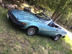 TR 8 1980 classic 2 seater sports car                $10,400.