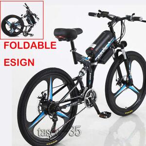 "350W 21 Speed 26""Folding Mountain E-Bike w/3 Cycling Mode Removable"