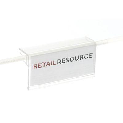 "Glass Shelf Label Holders 2.875/"" long for shelves 1//4/"" or 3//16/"" thick 50 LOT"