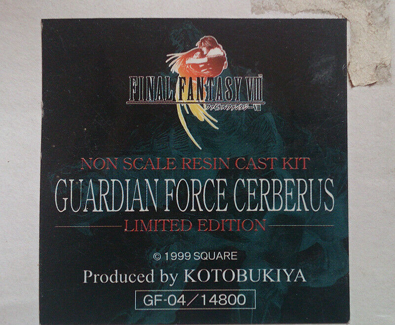 Final Fantasy VIII GuardianForce Cerberus Cerberus Cerberus (resin kit limited edition) KOTOBUKIYA d34b1d