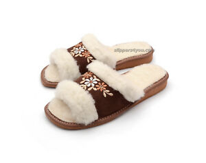 WHITE CALF TALL MENS WOOL BOOTS WARM NATURAL SLIPPERS SHEEP Size 7.5 41 EU