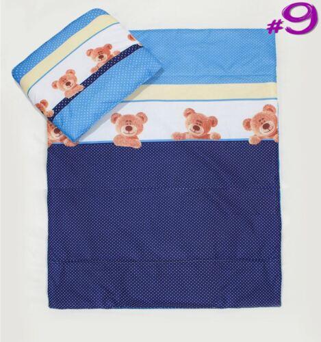 2 Stück Kinder Kinderzimmer Set Kissenbezug /& Bettdecke Abdeckung Fassung Wiege