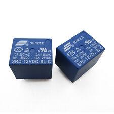 2PCS SRD-12VDC-SL-C RELAY T73-12V SONGLE 12V Power Relay brand new