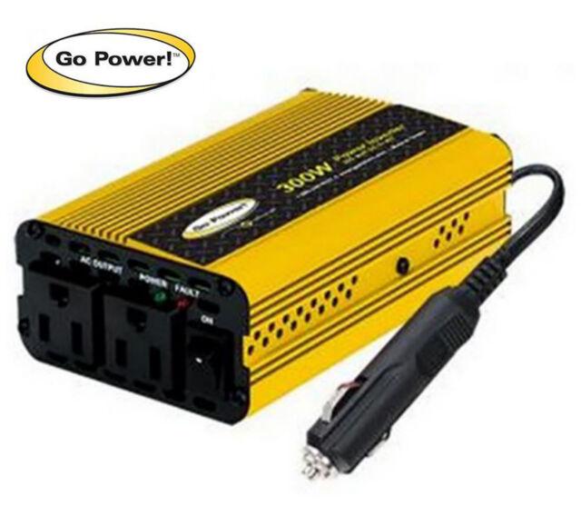 300 WATT MODIFIED SINE WAVE INVERTER 12 VOLT GO POWER GP-300