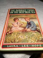 THE BOBBSEY TWINS ON THE DEEP BLUE SEA By Laura Hope (1918 HC Book, 1st Edition)