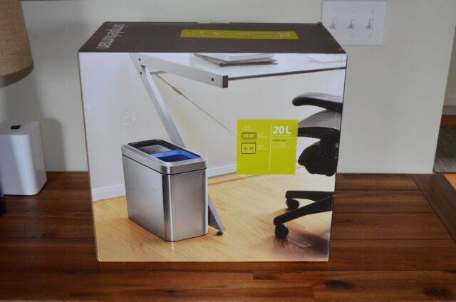 Simplehuman Slim Open Recycler Trash Can Stainless Steel 20 L 5 3 Gal