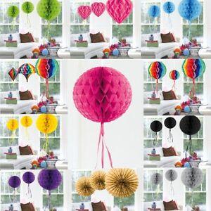 waben ball f cher herz party deko geburtstag hochzeit papier dekoration ebay. Black Bedroom Furniture Sets. Home Design Ideas