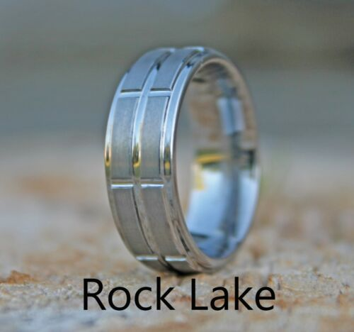 Wedding Band Mens Contoured Tungsten Carbide Ring sizes 7.5-13