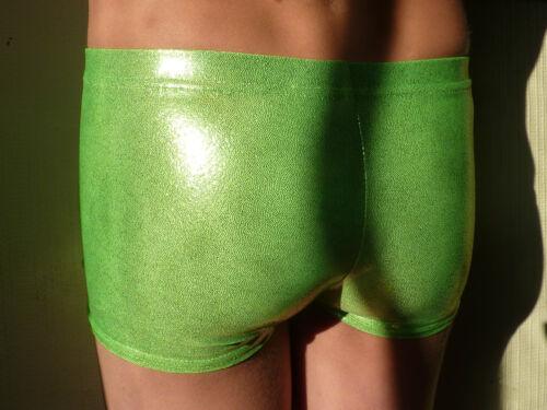 Coloured MYSTIQUE fabrics ALL SIZES leotard New LILAC LIZARD Gymnastic shorts